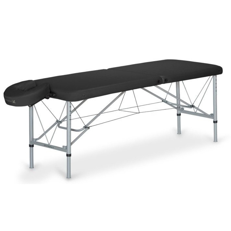 Table de massage a ro noire promo 470 malea - Table esthetique pliante legere ...