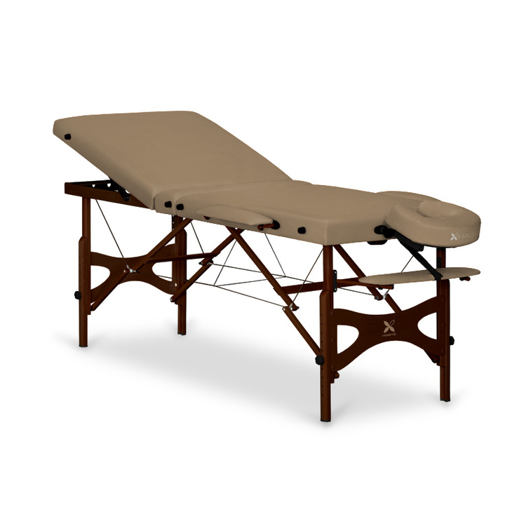 Table de massage panda plus capuccino bois weng - Table esthetique pliante legere ...