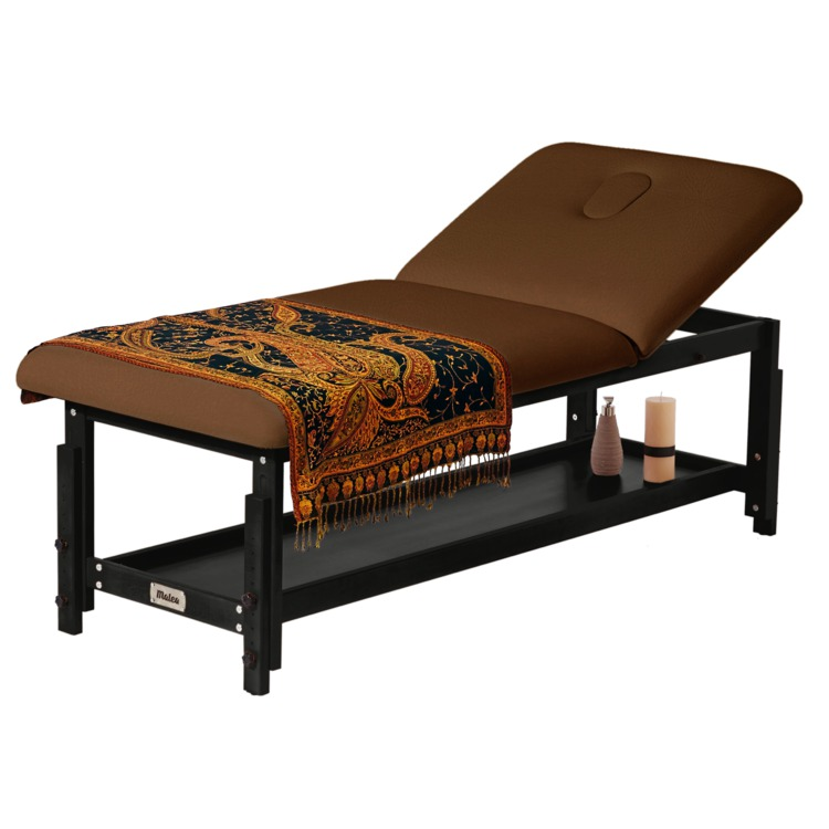 table de massage elite chocolat 80 cm bois noir promo 620 malea. Black Bedroom Furniture Sets. Home Design Ideas