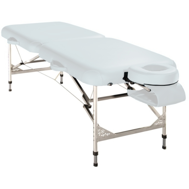 Table de massage pliante melody blanc promo 280 - Table esthetique pliante legere ...